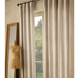 NOT ACCEPTING OFFERS- 2 RH twill curtains New